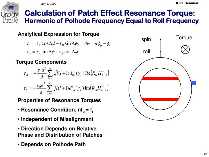 Analytical Expression for Torque
