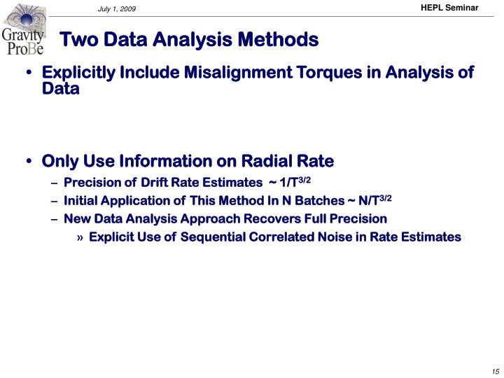 Two Data Analysis Methods