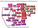 rad 3 0 schema incorporates mage and experience with microarrays