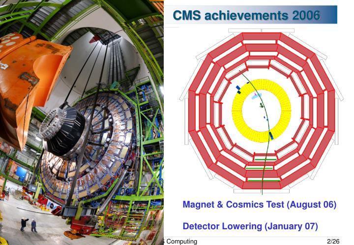 CMS achievements 2006