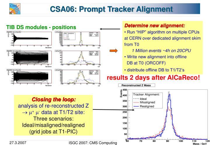 CSA06: Prompt Tracker Alignment