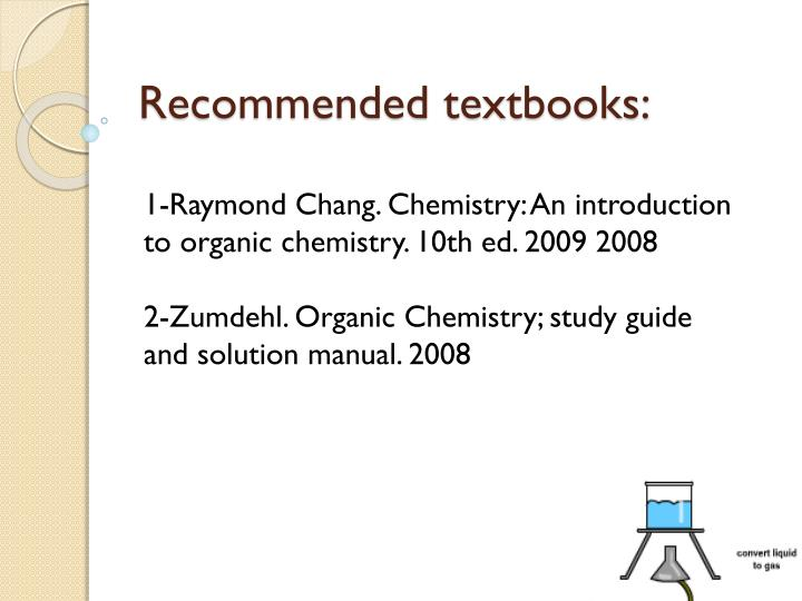 Recommended textbooks: