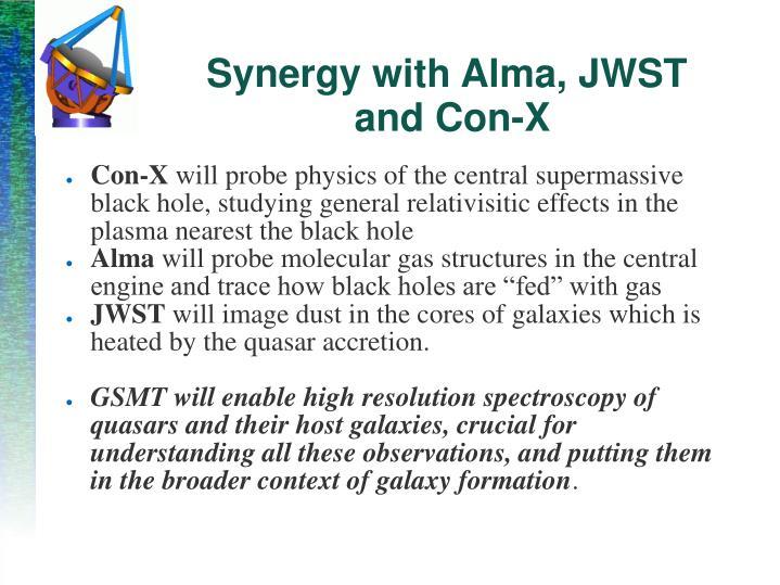 Synergy with Alma, JWST