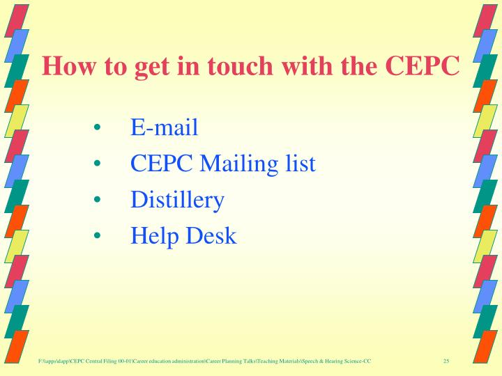 How to get in touch with the CEPC