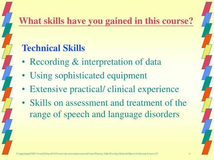 What skills have you gained in this course?