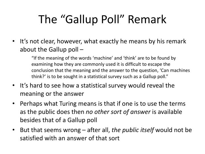 "The ""Gallup Poll"" Remark"