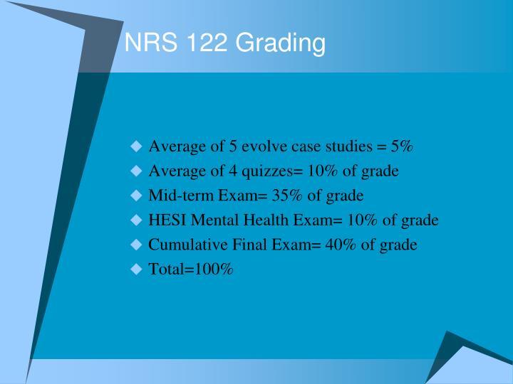 NRS 122 Grading