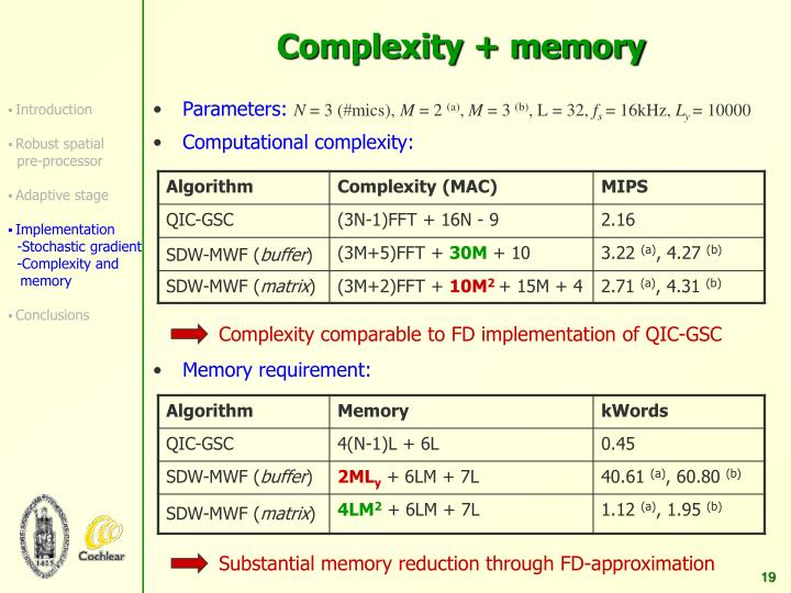 Complexity comparable to FD implementation of QIC-GSC