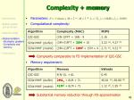 complexity memory