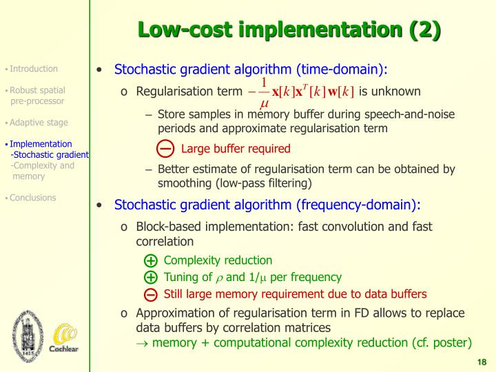 Low-cost implementation (2)