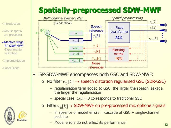 Multi-channel Wiener Filter (SDW-MWF)