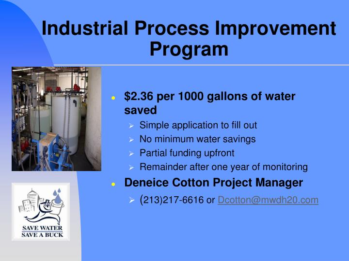 Industrial Process Improvement Program
