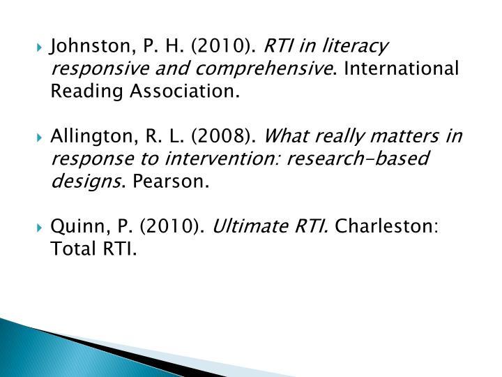 Johnston, P. H. (2010).