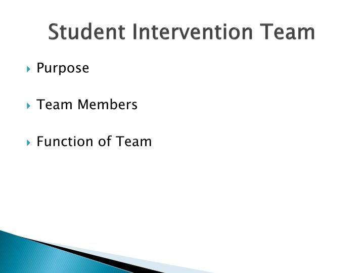 Student Intervention Team