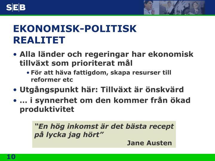 EKONOMISK-POLITISK