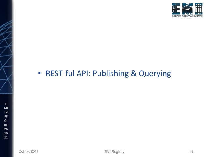 REST-ful API: Publishing & Querying