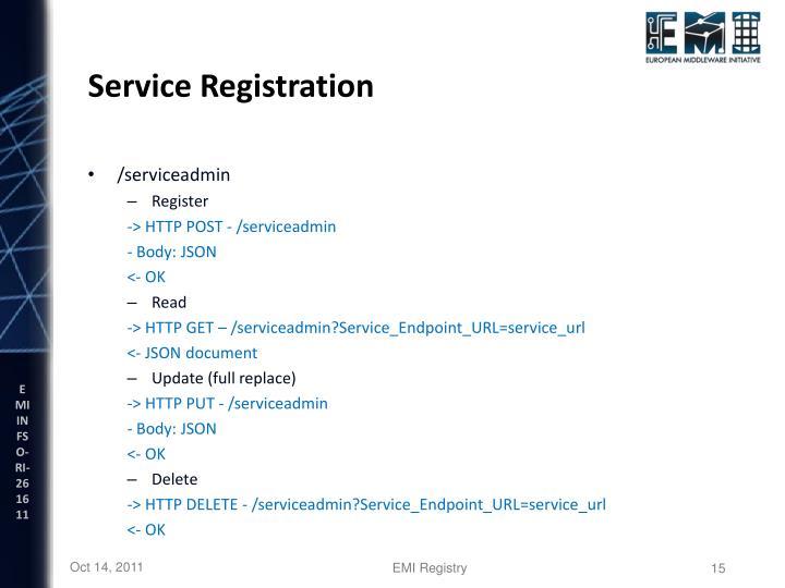 Service Registration