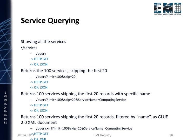 Service Querying