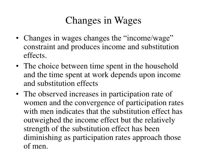 Changes in Wages