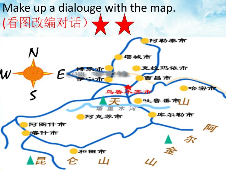 Make up a dialouge with the map.