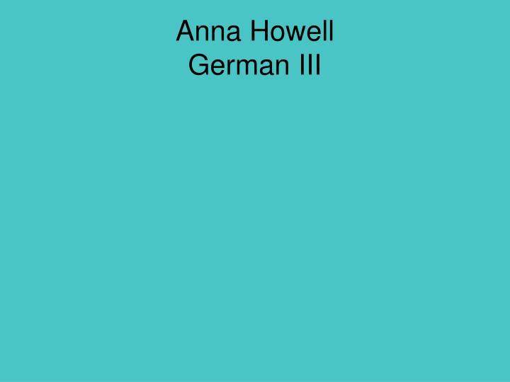 Anna Howell