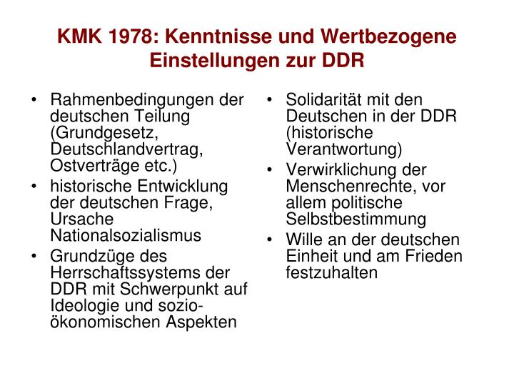 Rahmenbedingungen der deutschen Teilung (Grundgesetz, Deutschlandvertrag, Ostverträge etc.)