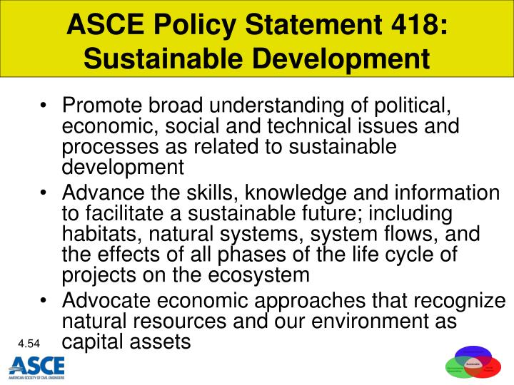 ASCE Policy Statement 418: