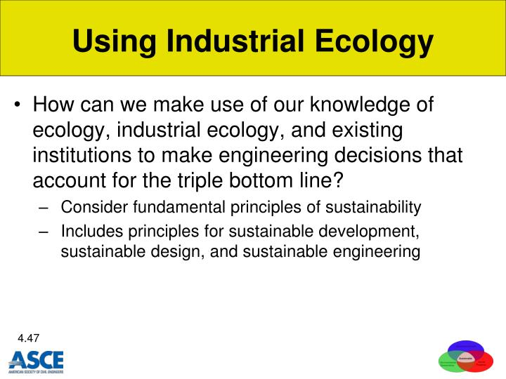 Using Industrial Ecology