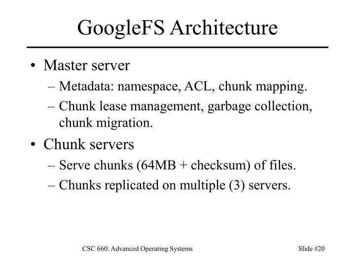 GoogleFS Architecture