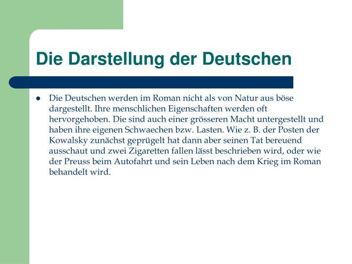 Die Darstellung der Deutschen