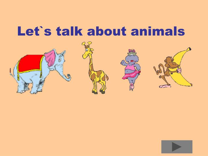 let s talk about animals