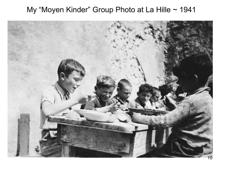 "My ""Moyen Kinder"" Group Photo at La Hille ~ 1941"