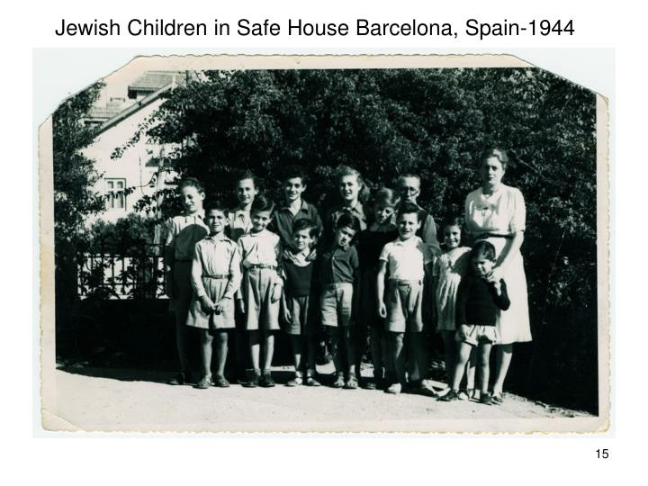 Jewish Children in Safe House Barcelona, Spain-1944