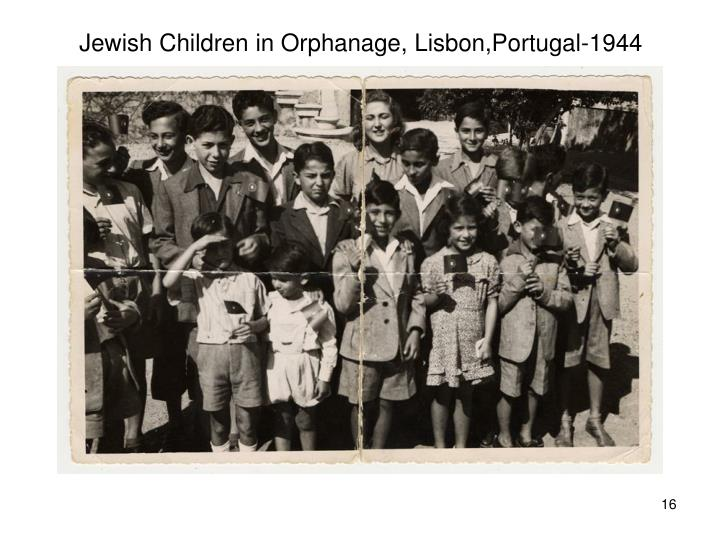 Jewish Children in Orphanage, Lisbon,Portugal-1944