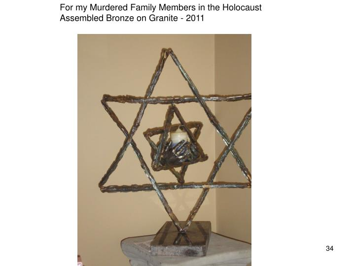 For my Murdered Family Members in the Holocaust