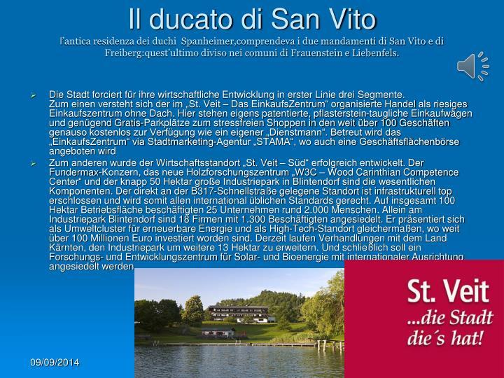 Il ducato di San Vito