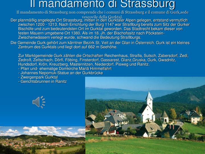 Il mandamento di Strassburg
