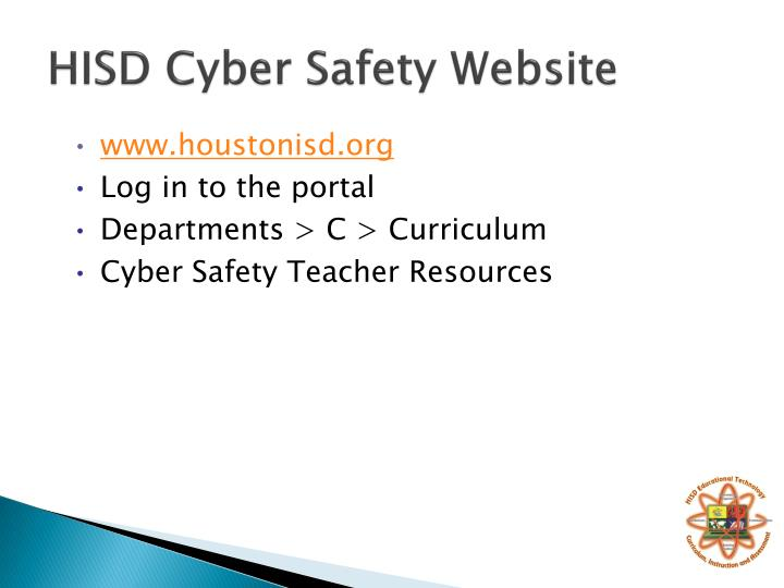 HISD Cyber Safety Website