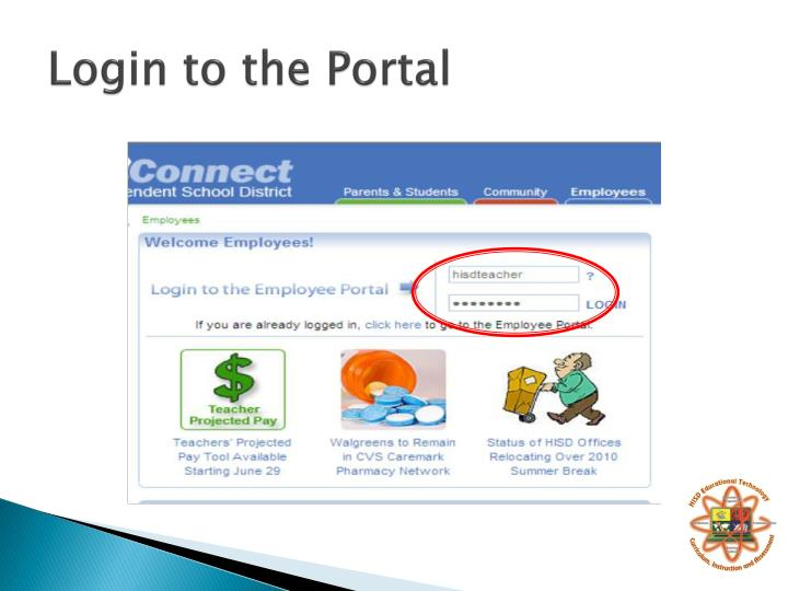 Login to the Portal
