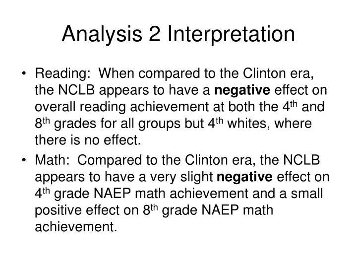 Analysis 2 Interpretation
