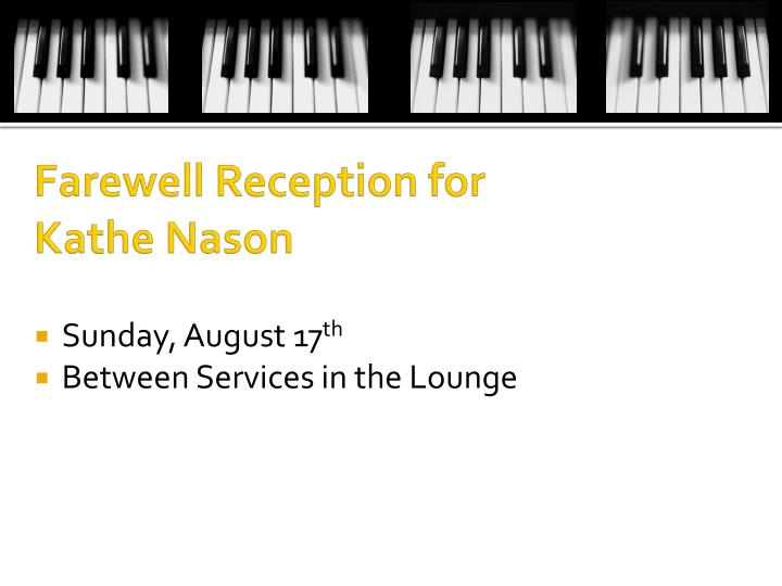 Farewell Reception for