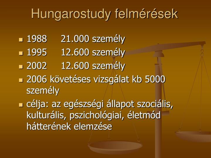 Hungarostudy felmérések