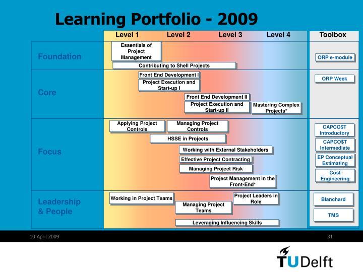 Learning Portfolio - 2009