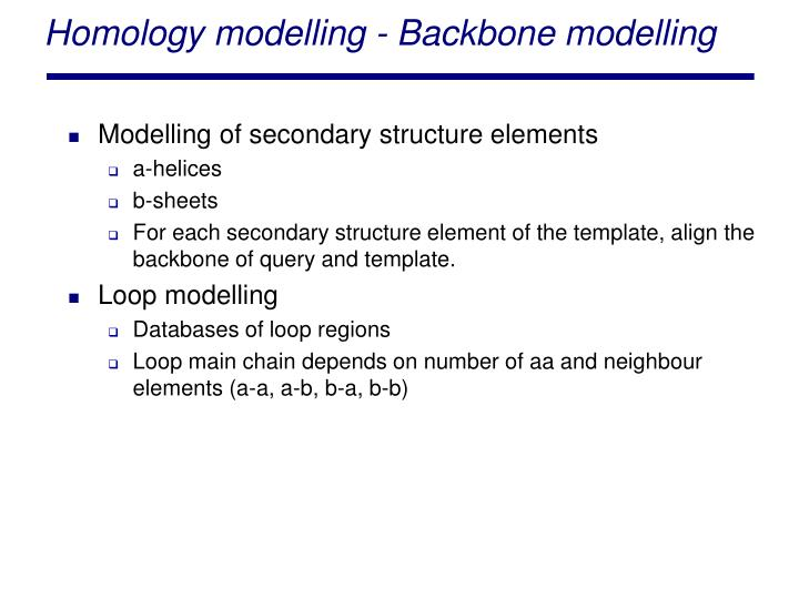 Homology modelling - Backbone modelling