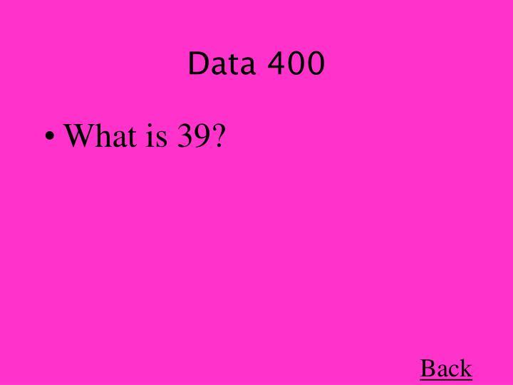Data 400