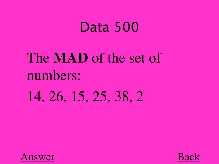 Data 500