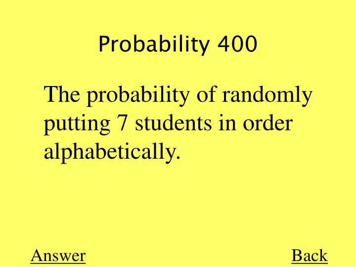 Probability 400