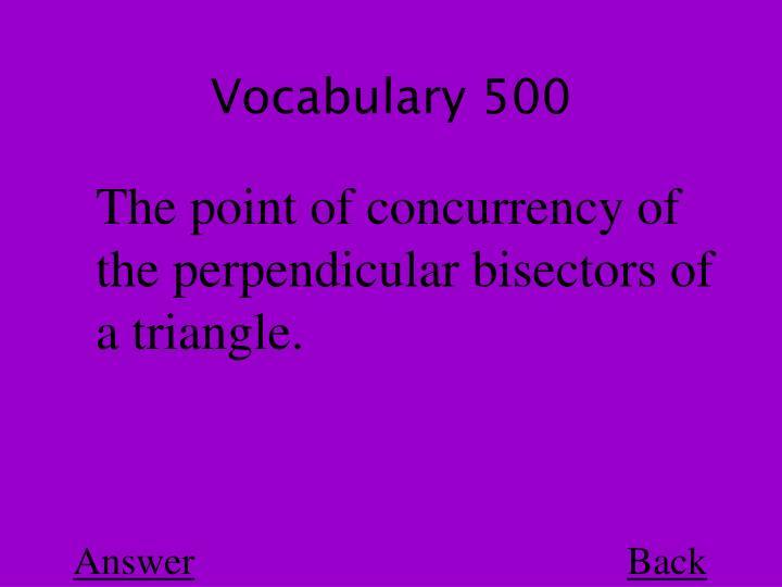 Vocabulary 500