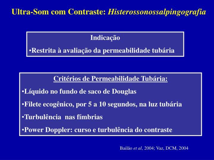 Ultra-Som com Contraste: