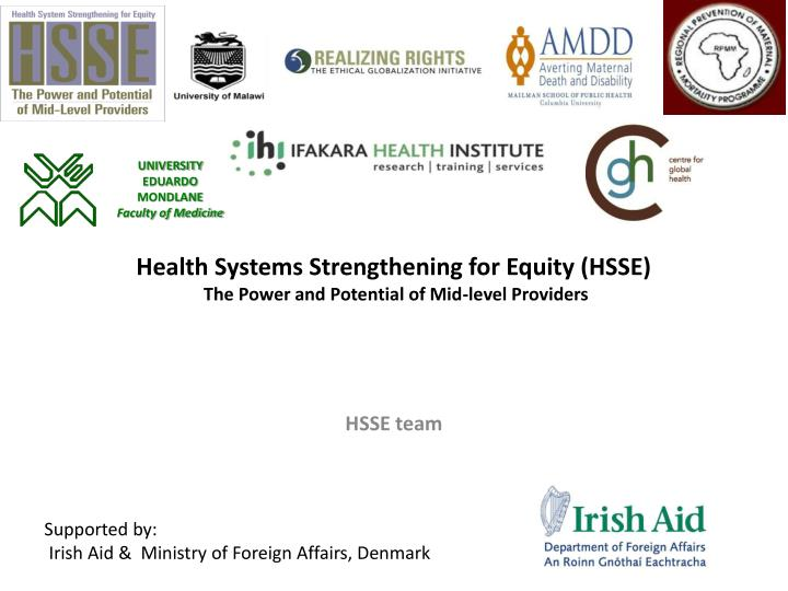 Health systems strengthening for equity hsse the power and potential of mid level providers